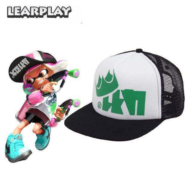 Splatoon 2 King Flip Mesh Trucker Cap Men s Hat Green Adjustable Baseball  Caps Halloween Costume Accessories For Adults 389149290b6