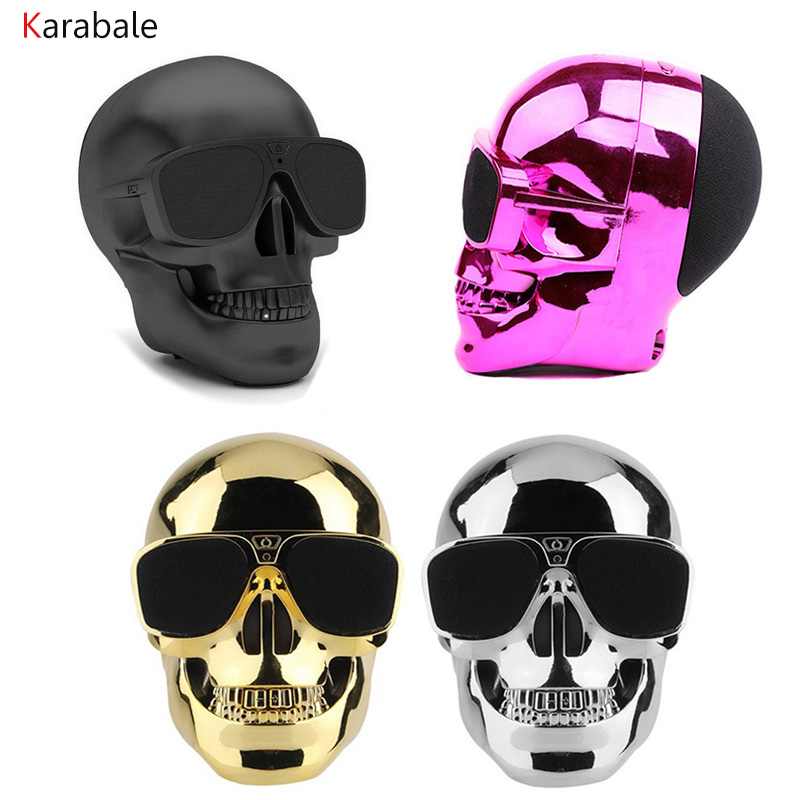 AeroSkull Bluetooth Speaker Wireless Sunglass Skull Shape Speaker Mobile Subwoofer Multipurpose Portable Speaker Cool