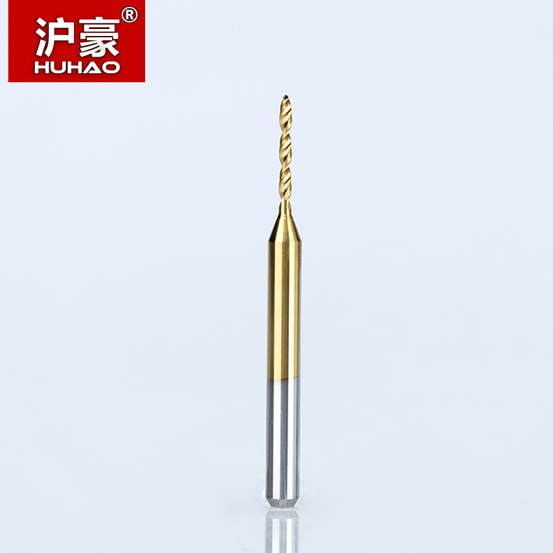 HUHAO 10PCS/lot Shank 3.175mm  Titanium Coat Carbide PCB Mini Drill Bit 1.2mm -2.1mm CNC Tool For Print Circuit Board