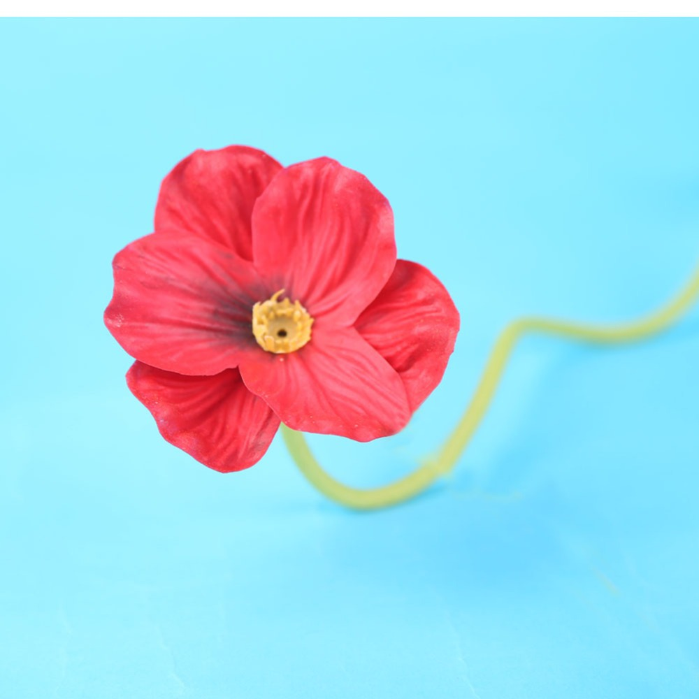 10 Pcs Artificial Real Touch Decorative Silk Fake Artificial Poppy