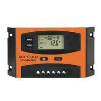 10A 20A 30A PWM 12 볼트 24 볼트 태양 컨트롤러 LCD 기능