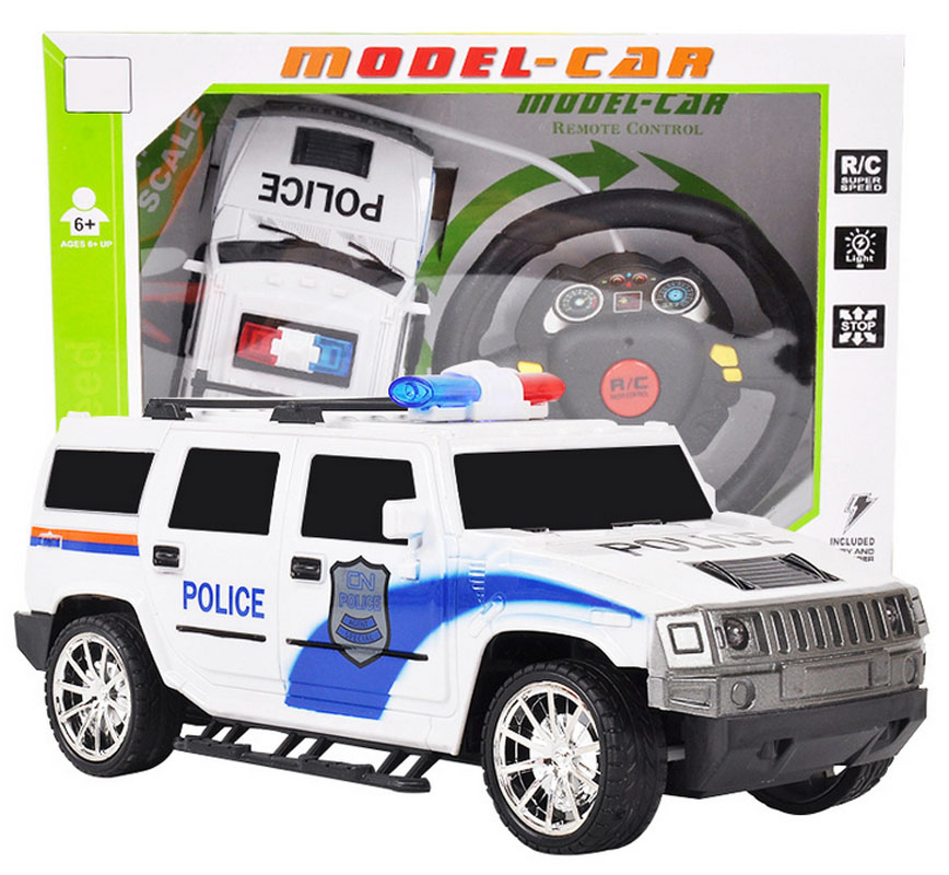 RC Cars Remote Control Drift Police Cars 4CH Wireless Remote Control Car Model Toys Gift for Boys Kids Children