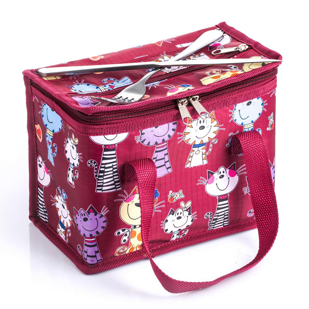 TEAMOOK 4 patterns Portable Oxford Lunch Bag Thermal Insulated Lunch Box Food Picnic Lunch Bags For Women Kids Lunchbox Bag in Lunch Bags from Luggage Bags