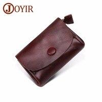 JOYIR Men Wallet Genuine Leather Small Women Coin Purse Mini Coins Bag Slim Wallet Coin Purse Credit & ID Card Holder Male Purse