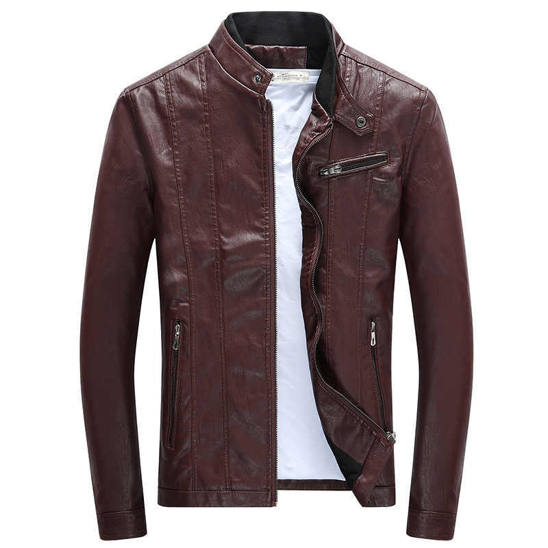 c1f194641 2018 luxury PU Jackets Coats Mens Motorcycle Biker Faux Leather Jacket Men  Autumn Winter Clothes Male Classic Thick Velvet Coat