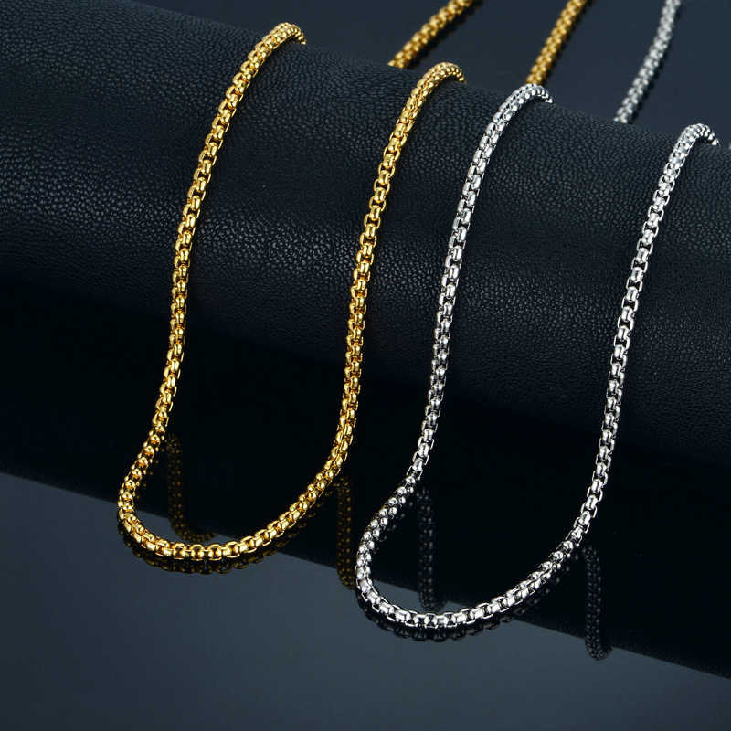 "3MM Gold Chain Small Necklace 18"" 22"" 24"" Mens/Womens Necklaces Chains , Gold Color Vintage Jewelry collier or"