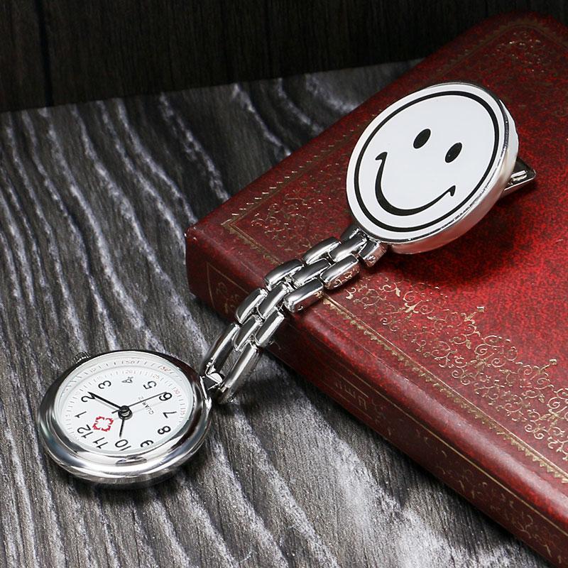 New White Smiling Face Nurses Watches Doctor Portable Quartz Watch Batteries Medical Nurse