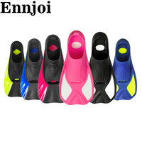 Professional Swimming Fins and Flippers Rubber Swimming Flippers Short Snorkel Diving Fins for Water Sport Swimming