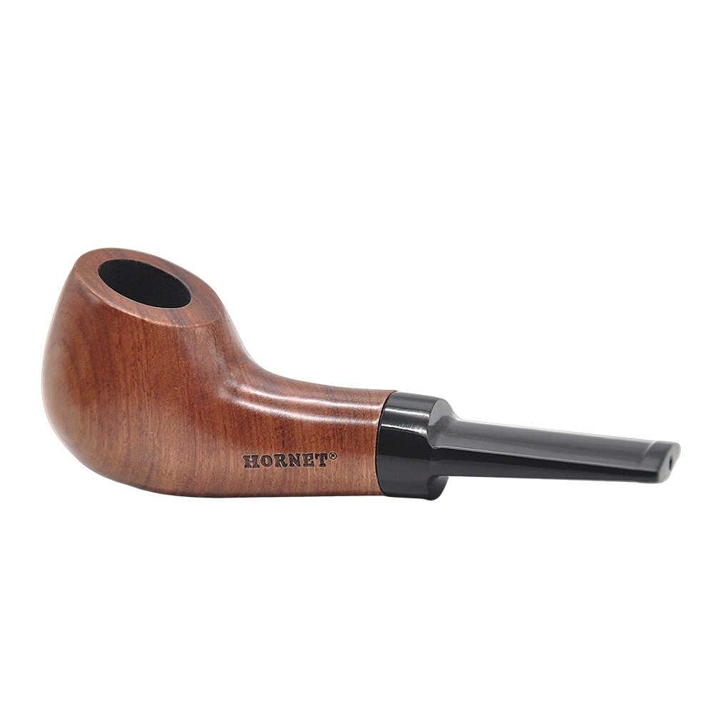[Hornet] 手作り木製耐久性のあるたばこ喫煙パイプ喫煙アクセサリー