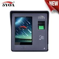Fingerprint Access Control RFID Door Lock Garage Gate Opener System Machine Device 4 Totally touch screen