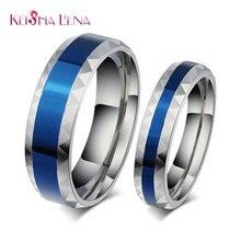 Лена кейша любовника стальные titanium голубой палец продажа кольца нержавеющей синий