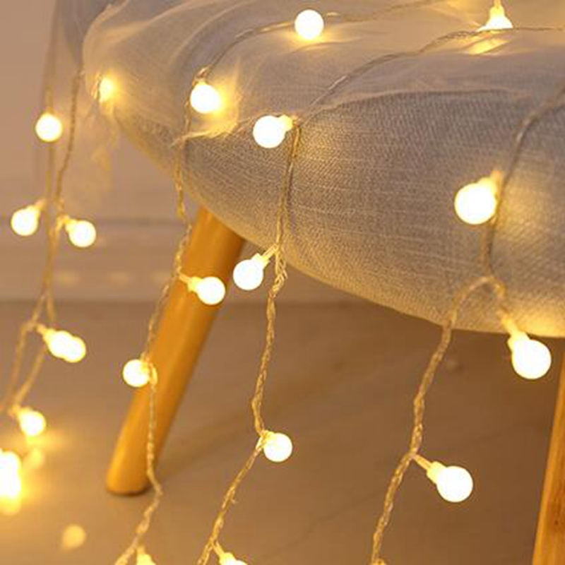 New 2/5/10M Fairy Garland LED Ball String Lights Waterproof For Christmas Tree Wedding Home Indoor Decoration Battery Powered