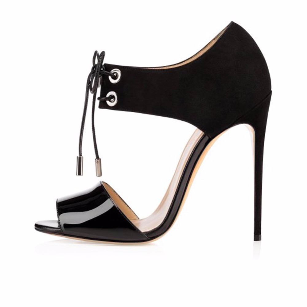 Ladies Handmade Fashion Lace Up Open Toe 100mm Sexy Party Dress High Heel Sandals Shoes CKE099 womens fashion handmade 110mm open toe metal deco high heel party evening prom sandals shoes xd167