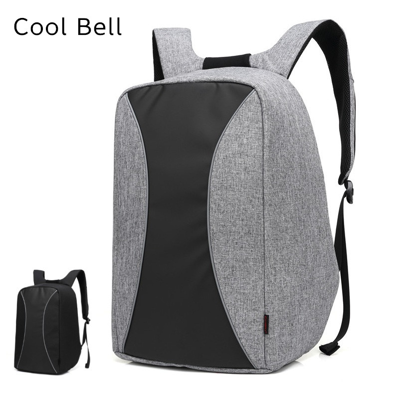 2017 Newest Cool Bell Brand Backpack For Laptop 15,15.6,17,Notebook 17.3, Compute Bag,Office Worker,Free Drop Shipping 8002