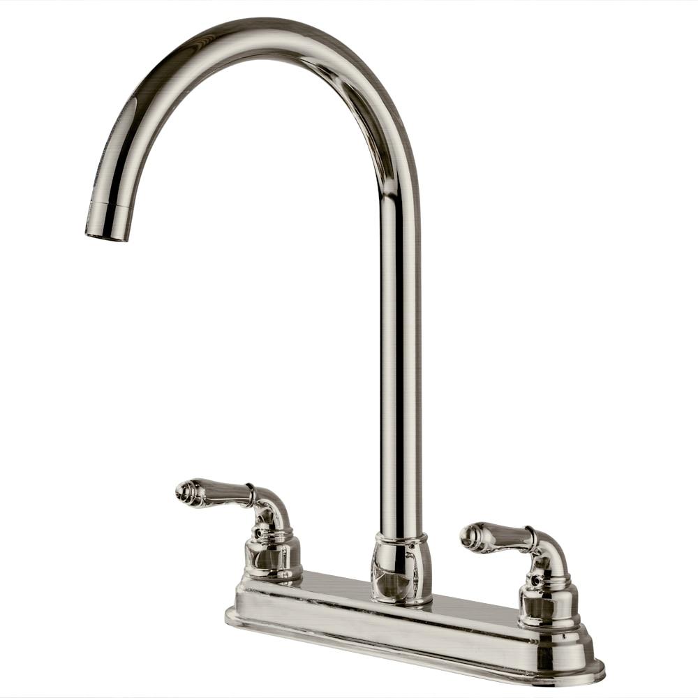 2-Handle Chrome Kitchen Faucet Sink Mixer Tap Swivel Spout Faucet Classic Swivel Copper Single Hole Kitchen Faucets Taps