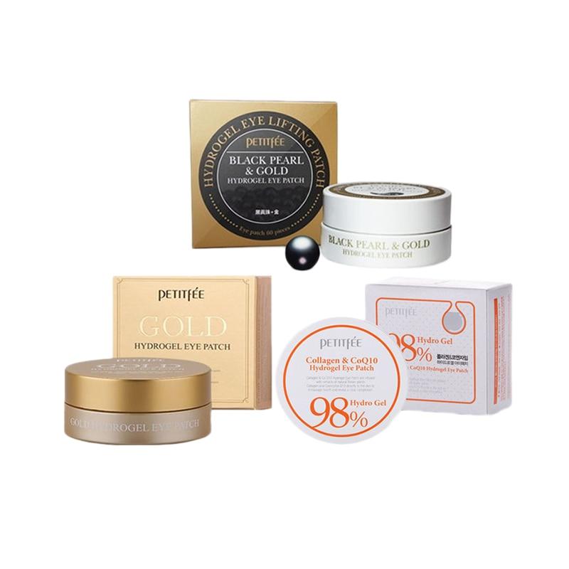 PETITFEE Eye Patch 3pcs ( Black Pearl Gold + Gold Hydrogel + Collagen Co Q10 Hydrogel ) Eye Mask Face Care Anti Wrinkle Moisture