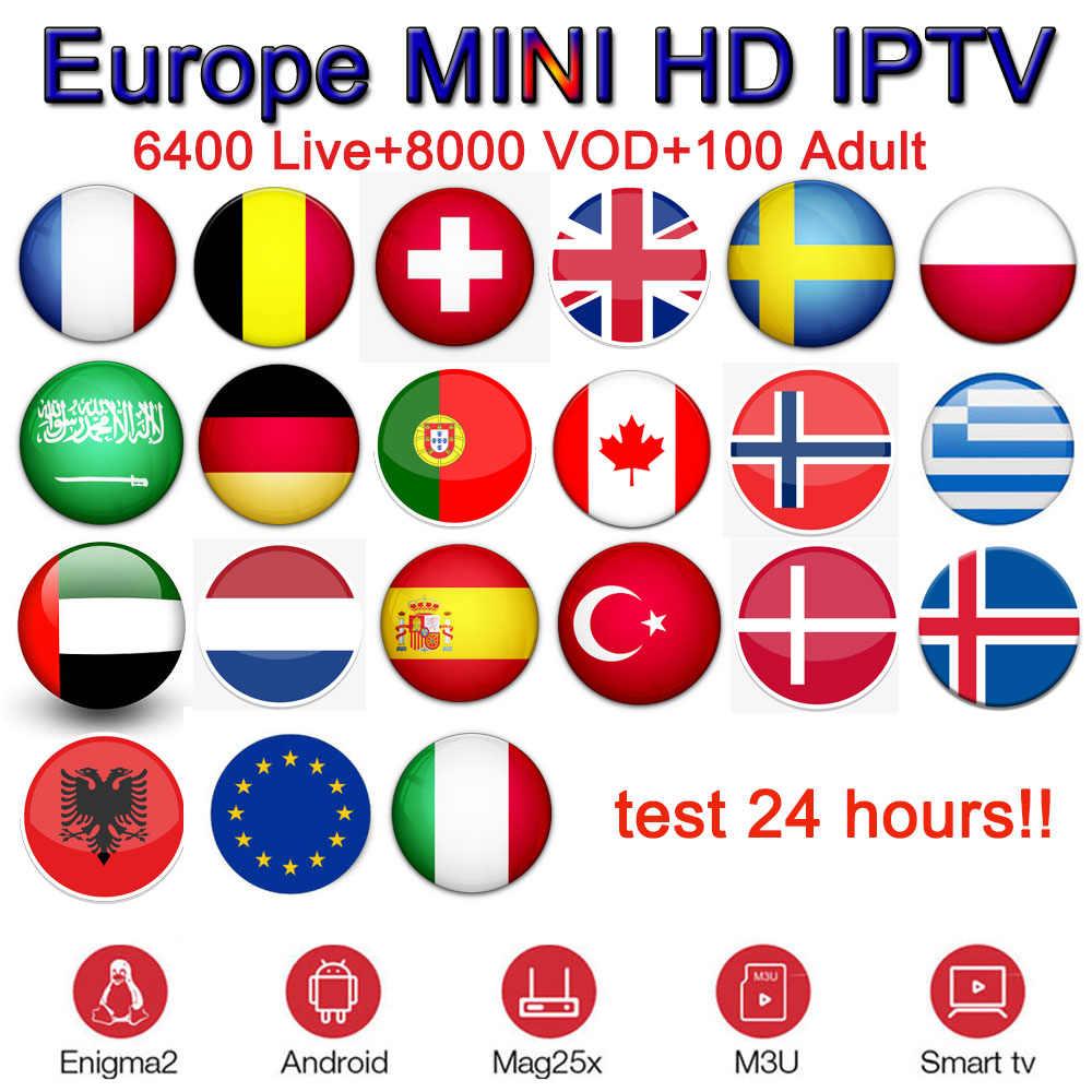 Mini IPTV + Android TV Box X96 Mini Terbaik Bahasa Perancis IPTV Spanyol Portugal Italia Perancis Polandia Swedia Bahasa Swedia Dewasa TV Berbayar m3U Berlangganan