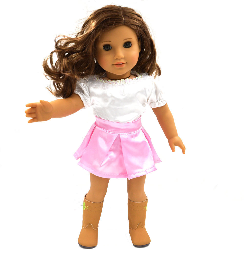 Free shipping doll clothes outfit and wedding dress fits for American girl wedding dress
