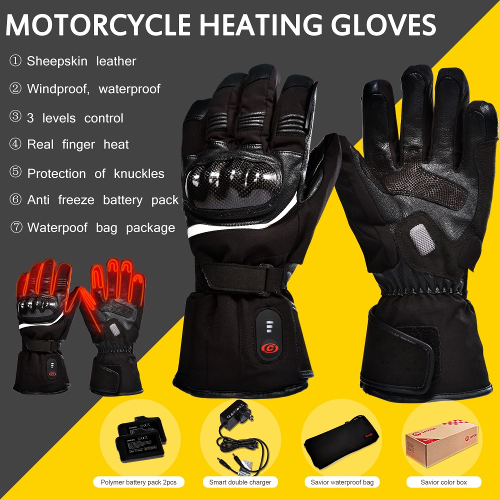 Carbon Fiber Knuckle Leather Motorcycle Motorbike Race Waterproof winter Gloves