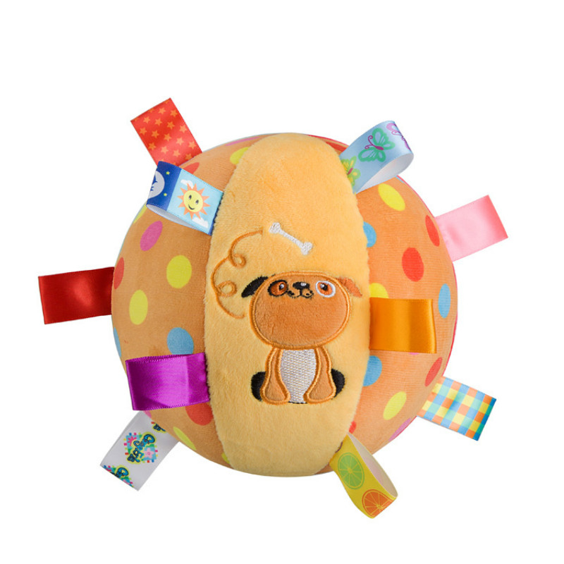 2017 Dog plush toys Baby musical Ball Rattle bell Toy brinquedo juguetes jouet crib stroller bed