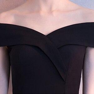 Image 5 - DongCMY שחור לנשף שמלת 2020 חדש הגעה אופנה סימטרי קצר מפלגה שמלה