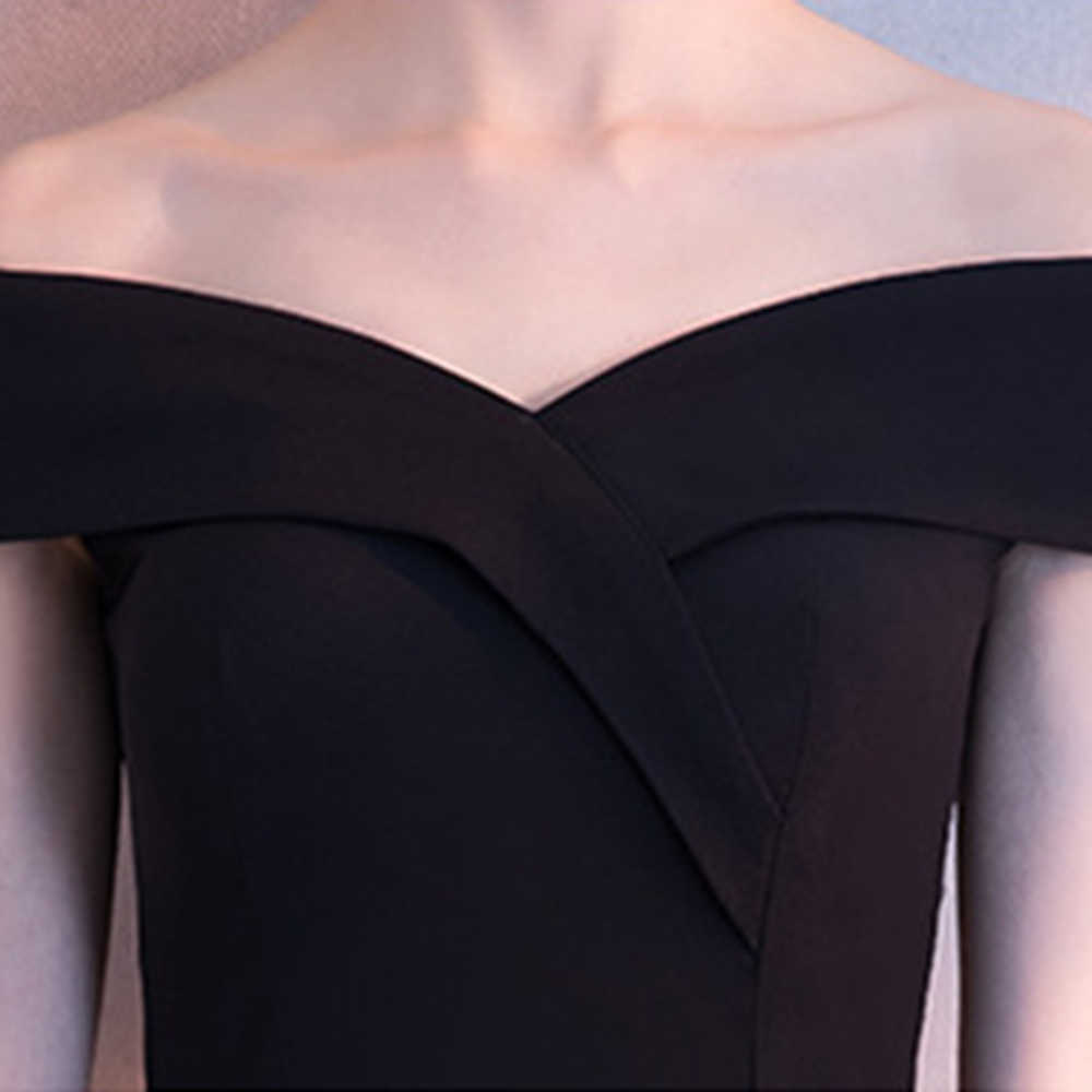 40c91691e1359 DongCMY Black Prom dress 2019 new arrival fashion Asymmetrical short Party  Gown