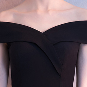 Image 5 - DongCMY Black Prom dress 2020 new arrival fashion Asymmetrical short Party Gown