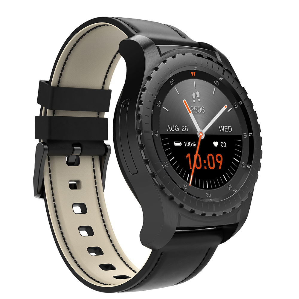 KW28 Smartwatch S3 Phone Heart Rate Monitor 1.3 Inch Smart Watch With Remote Camera SIM TF Card Clock Bluetooth Music Wristwatch huiniu q1 pro 4g smart watch android 6 0 gps 720mah camera smartwatch phone heart rate monitor sim card support wifi wristwatch