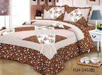 Comfortable high grade cotton bedding quilted bed cover 220 * 240 double bed Indian Southeast Asian bed cover