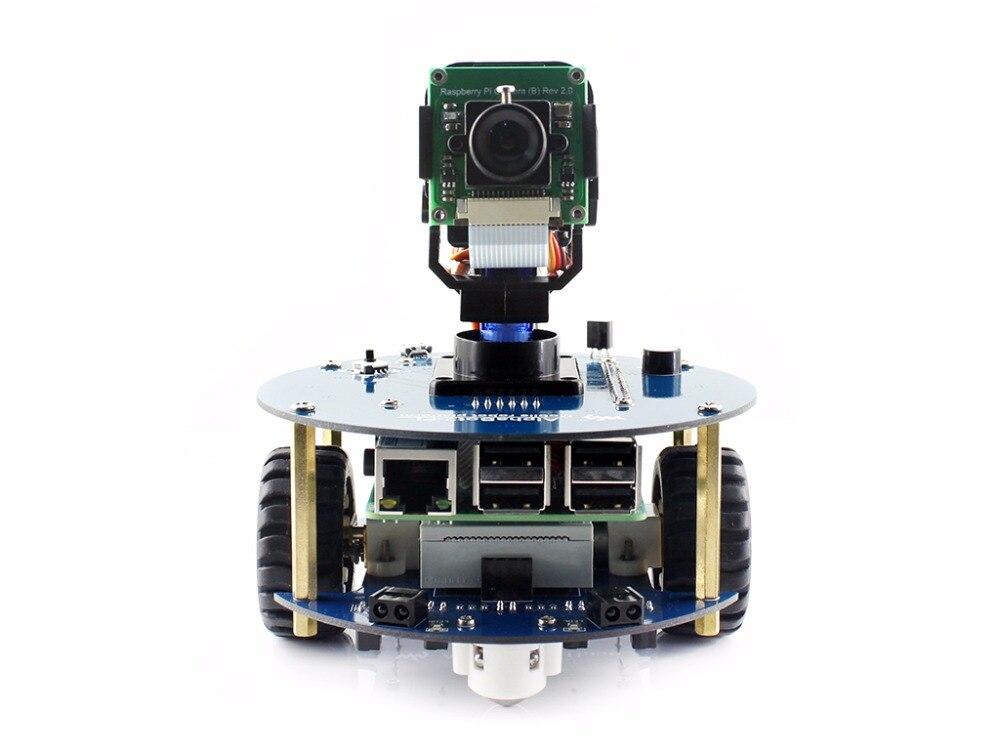 AlphaBot2 Robot Building Kit For Raspberry Pi 3 Model B (no Pi) Includes Ultrasonic Sensor IR Remote Controller RPi Camera Etc