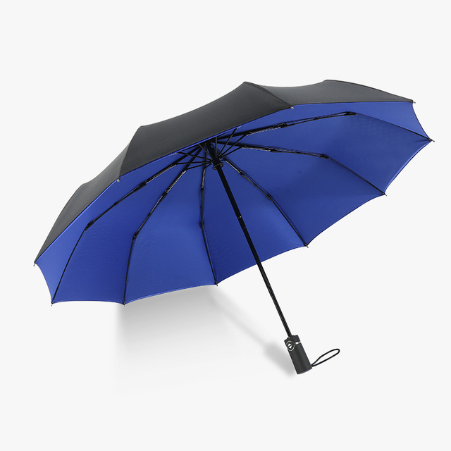 New Arrive  Umbrellas Auto Open Auto Close 10 Spokes 190T Polyster For Women Gentle Duoble Camopy 23″ Gift Windproof Compact