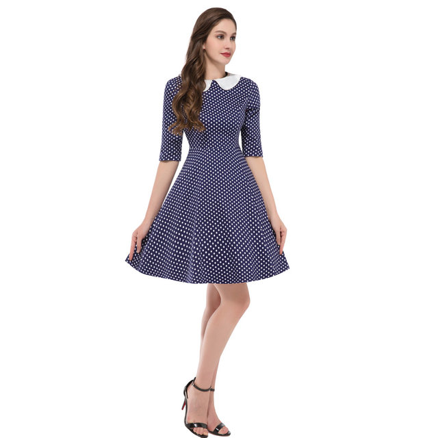 Cheap Pin Up Clothing Awesome Online Shop Summer Style Small Polka Dot Dresses 60 60s Rockabilly