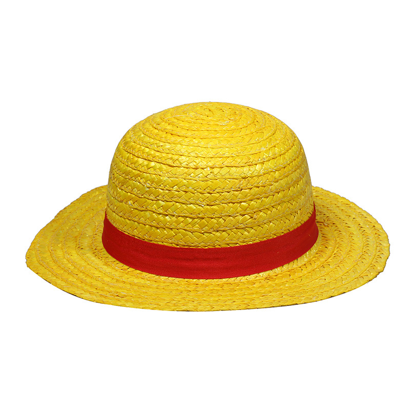 0c8c40dd7 ONE PIECE Favorite Cartoon Character Monkey D Luffy Straw Hat Animation  Personality Sun Hat Cartoon Anime Cosplay Caps Wholesale