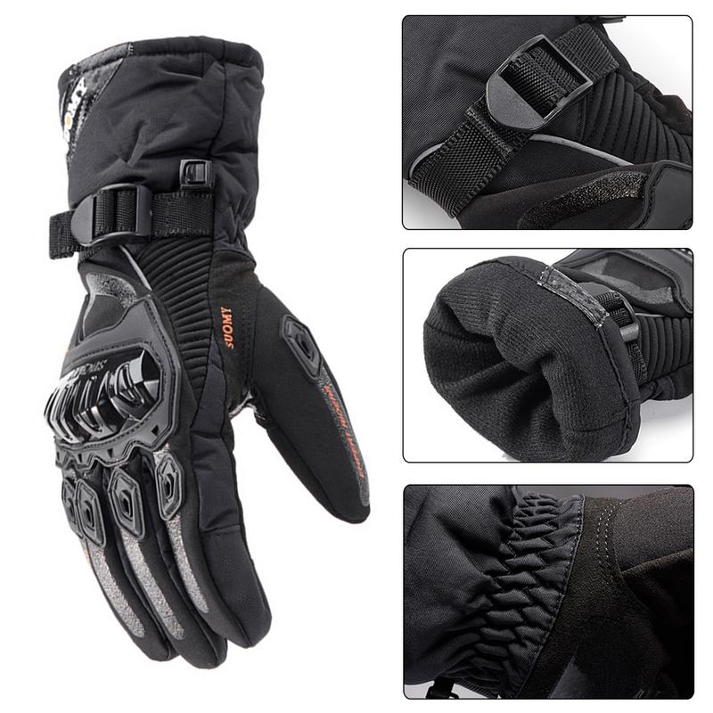 Image 4 - New Winter Motorcycle Gloves Waterproof And Warm Four Seasons Riding Motorcycle Rider Anti Fall Cross Country Gloves-in Gloves from Automobiles & Motorcycles