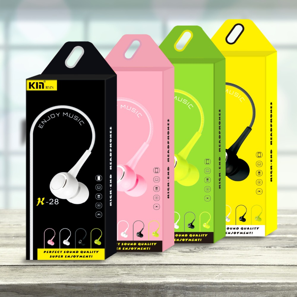 qijiagu 10pcs K Sound unverisal In-Ear earphones with Mic for Apple/Android phone computer