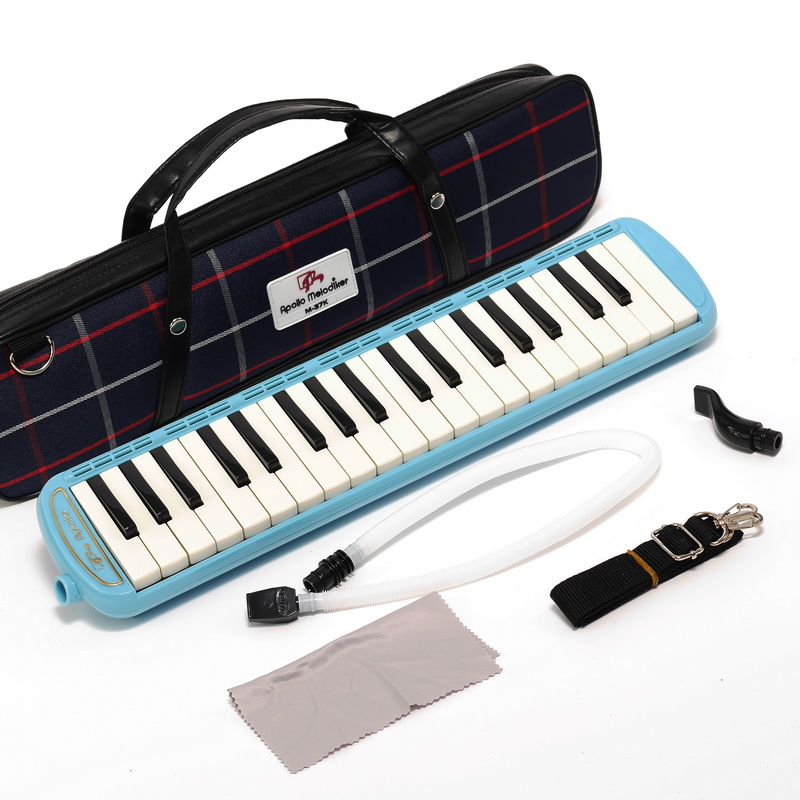 Wholesales High Quality APOLLO M-37K Keyboard Harmonica 37 Keys Melodica For Teaching (with carrying bag) swan 37 keys melodica black color teaching music fundamentals mouth organ melodica musical instruments accordion accessories