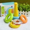 This baby rainbow circle children stacking ring tumbler puzzle toys
