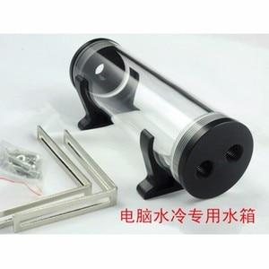 Image 4 - Réservoir deau cylindrique 60 210mm en acrylique, refroidisseur deau pour ordinateur, avec accessoires dinstallation, bricolage