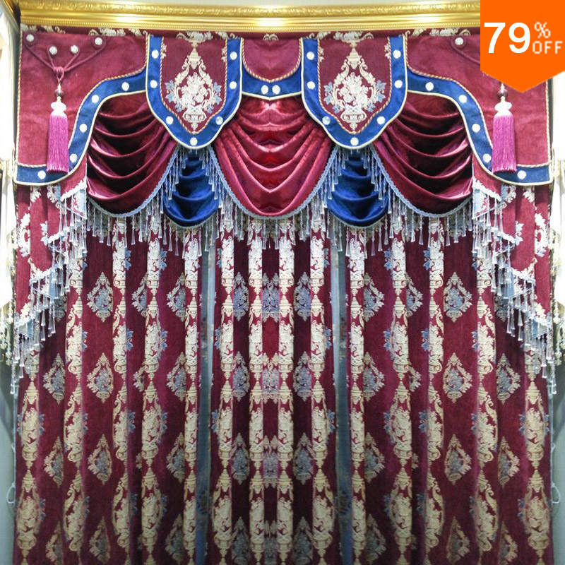 Ultimate Powder Room Curtain Magicr Barroco Pattern Curtains Rose Burgundy Living Rooms Red Dinning Movie Bedroom In From Home