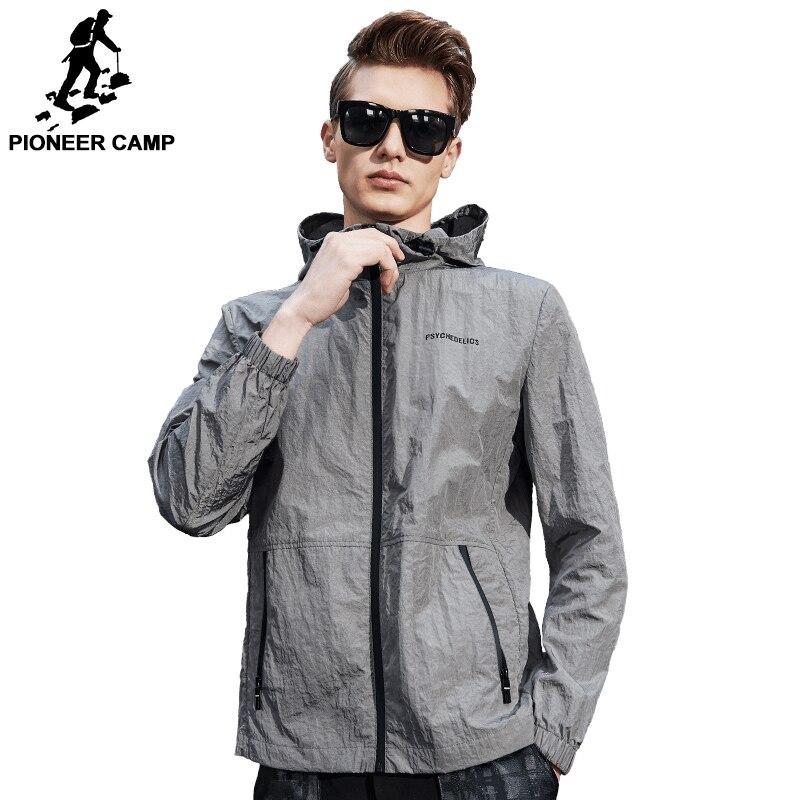 Camp pionnier 2018 Nouveau Printemps ultra mince veste hommes marque vêtements mode casual ultra lumière étanche mâle manteau AJK707002