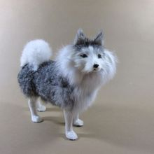 Simulation dog polyethylene&furs dog model funny gift about 20cmx10cmx13cm