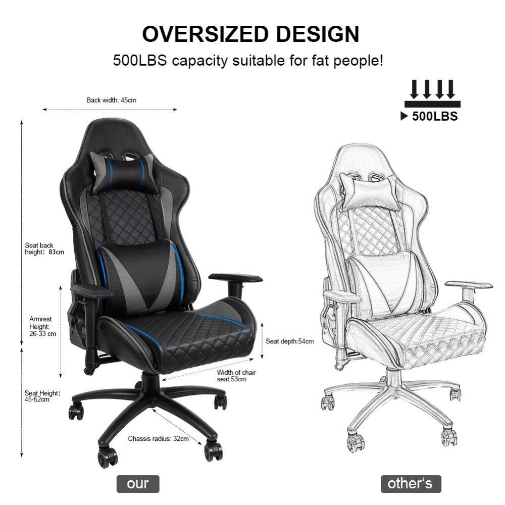 Ergonomic Computer Gaming Chair Racing High Back Pu Leather