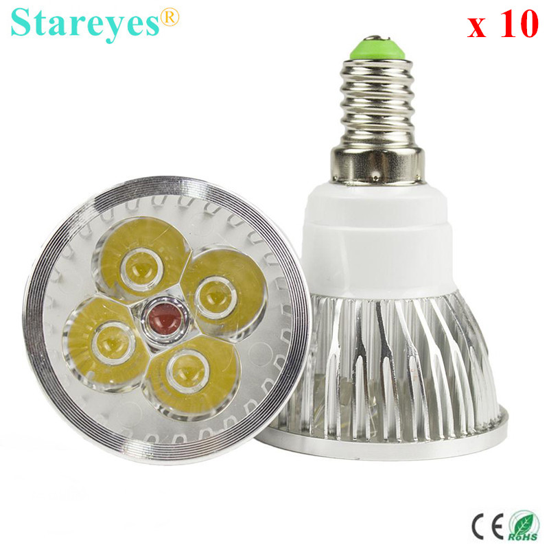 Free shipping 10 pcs Dimmable 4W 3W E14 MR16 GU10 E27 B22 GU5.3 High Power LED lamp LED Spotlight Downlight Bulb LED Lighting
