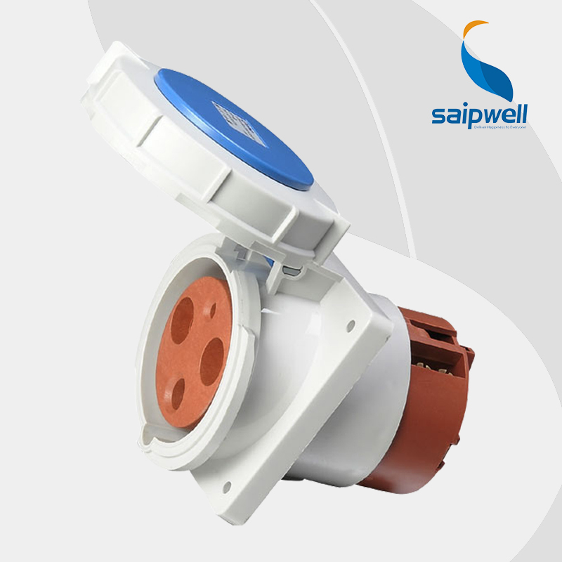 цена на Wholesale Saipwell waterproof socket outlet 3P (2P+E) 125A 230V Proof Level IP67 iec 60309-2 industrial socket SP3575