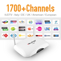 R2 inteligente Android IPTV Caja Cielo UK DE Italiano Francés 1700 Plus europa IP TV Canales Wifi Carga 1G/8G Reproductor Multimedia IPTV Set Top caja