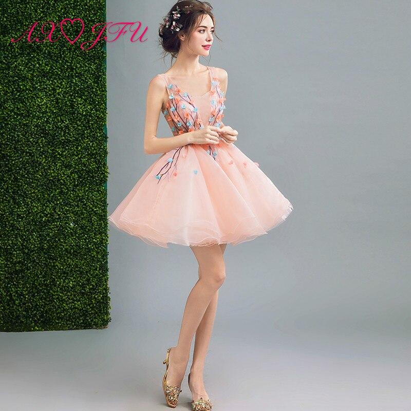 low priced e6ead 53ba2 US $54.79 10% di SCONTO|AXJFU Dolce Principessa Elegante rosa fata fiore  del vestito da sera, merletto di colore rosa del vestito da sera, sposa  abito ...