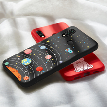Space Star Case For Huawei P20 Lite 3D Relief Cover Bumper P Smart Pro P30 Y9 2019 Mate 20