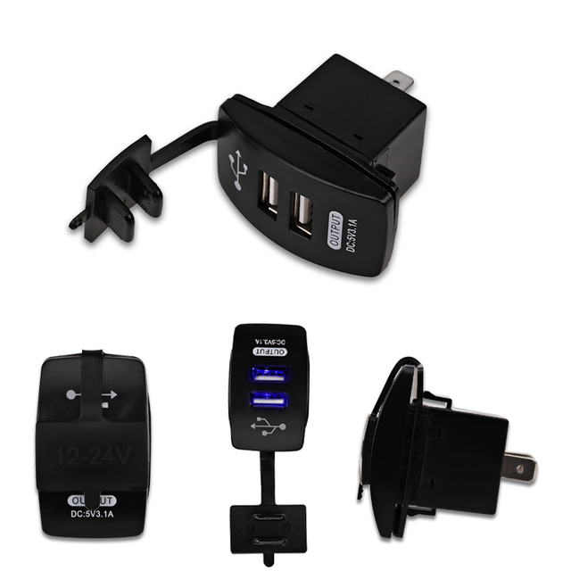 Best Offers Universal 12V-24V Motorcycle Car Charger 3.1A  Dual USB Charger LED 2 Port Charging Socket Outlet Adpater Waterproof