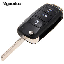 Фотография New 3 Buttons Flip Folding Remote Car Key Shell For VW Volkswagen Golf Mk6 Tiguan Polo Skoda Octavia Replacement Blank Case Fob