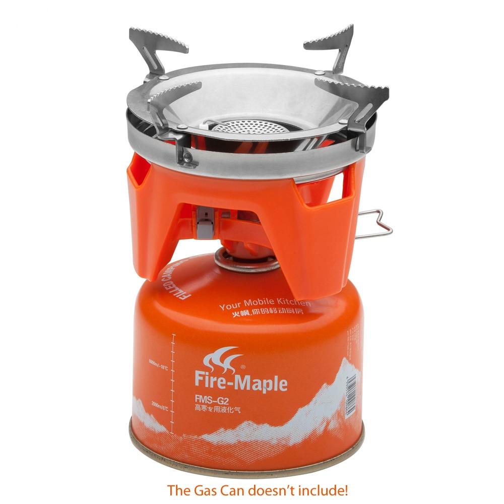 Système de cuisson personnel extérieur érable feu randonnée équipement de Camping OvenPortable meilleur poêle à gaz Propane brûleur ensemble Pot de FMS-X2 - 6